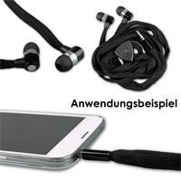 Universelle 3,5mm Audio-Kopfhörer in schwarz, blau, grün oder pink