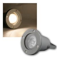 Garden spot gray IP44, COB LED warm white 5W