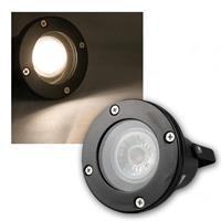 LED Gartenspot | schwarz | IP44 | warmweiß | 3W | 230lm
