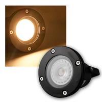 Garden spot | black | IP44 | COB LED | warm white | 7W