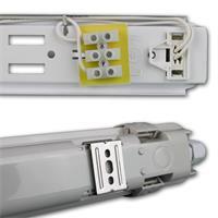 LED Wannenleuchte in 4 Helligkeiten und 4 Größen