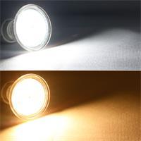 Warm- oder kaltweiß leuchtende GU10-Strahler
