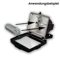R7s LED Energiesparlampe für 230V mit nur ca. 9W Verbrauch