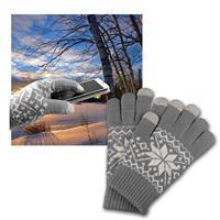 Touchscreen Handschuhe grau für Smartphone/Tablet
