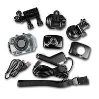 Sportkamera mit umfangreichen Zubehör z.B. Auto-Halterung mit Saugnapf