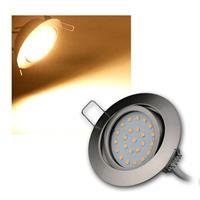 LED-Einbauleuchte Flat-26 warmweiß 330lm Edelstahl
