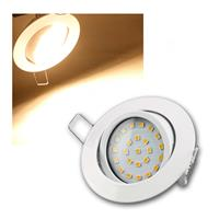 LED Einbauleuchte | Flat-26 | warmweiß | 330lm | weiß | 4W