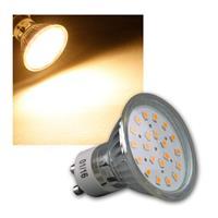 """LED Strahler GU10 """"H40 SMD"""" 120° 280lm warmweiß 3W"""