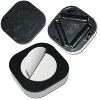 Touch-Leuchte mit silbernem Kunststoff-Gehäuse