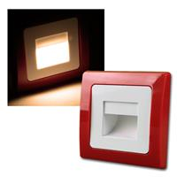 DELPHI recessed light | red / white | COB LED | 230V