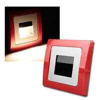 DELPHI recessed light | red / silver | COB LED | 230V
