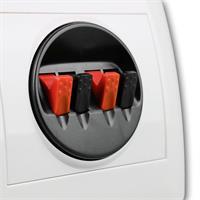 Anschluss von Lautsprecherkabel mittels Klipp-Fix-System
