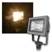LED garden light | gray | 10W | warm white | 760lm | IP44