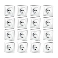 DELPHI Schuko sockets, set of 16, white