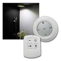 LED recessed luminaires, remote control | Set of 6, battery