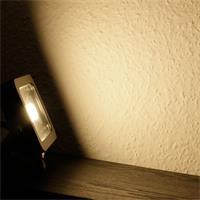 LED Außenstrahler Slim mit 760lm Lichtstrom und der Leuchtfarbe warm-weiß