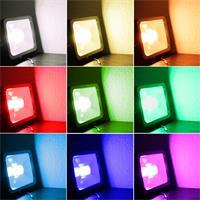 LED Flutlichtstrahler RGB-Slim mit 60 RGB SMD LEDs mit 16 verschiedenen Farben