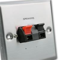 Lautsprecherdose für Lautsprecherkabel bis zu einem Querschnitt von 2,5 mm²