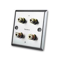 LS wall connection panel, 4x banana socket