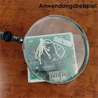 Echtglaslupe mit schwenkbaren Schwanenhals und 100mm Durchmesser