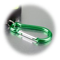 kleine LED-Taschenlampe mit Karabinerhaken und Magnet