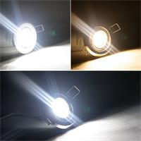 3/5/8er SET LED Einbaustrahler in 2 Lichtfarben und 3 Farben