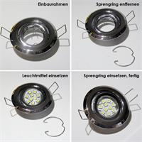 Leicht zu installierende Einbaustrahler in 3 Varianten
