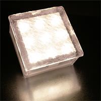 230V LED Boden-Einbauleuchte in Pflasterstein-Optik