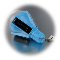 LED Campingleuchte mit Solarpanels und Dämmerungssensor