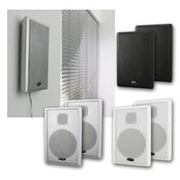 Flatpanel speaker, 1 pair | 40W | silver/white/black | 2-way