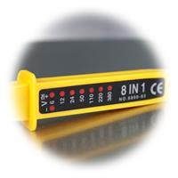 Spannungs- und Polaritätsanzeige über LEDs