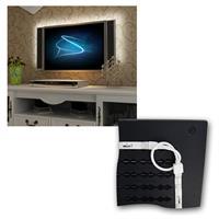 4x 50cm RGB LED Streifen als perfekte Hintergrundbeleuchtung für TV