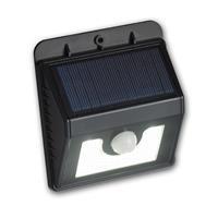LED Solar Wandstrahler IP44 mit integriertem Dämmerungsensor und Lichtfarbe daylight