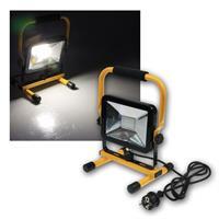 Baustrahler 30W LED mit Ständer IP44 2200lm 230V