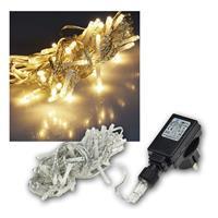Lichterkette Außen, 40 LED warmweiß, 230V, IP44