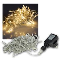 Lichterkette Außen, 100 LED warmweiß, 230V, IP44