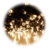 Warmweiß leuchtende Mini-Cluster Lichterkette für innen und außen