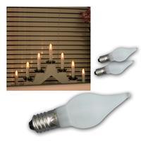 LED Windstoßkerzen | E10 | Leuchtmittel | 3er Pack | 0,1W