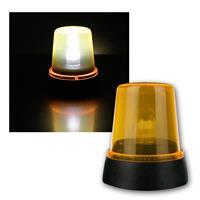 LED Rundumleuchte Orange Batteriebetrieb 11cm hoch