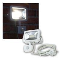 LED Fluter 10W Bewegungsmelder, Slim, weiß, 230V