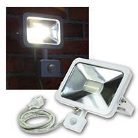 LED Fluter 50W Bewegungsmelder, Slim, weiß, 230V
