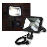 LED Fluter 50W Bewegungsmelder, Slim schwarz, 230V