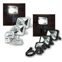 LED Fluter SLIM | Bewegungsmelder | schwarz/weiß | 10/30/50W