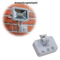 LED Fluter mit Bewegungsmelder in schwarz oder weiß für außen