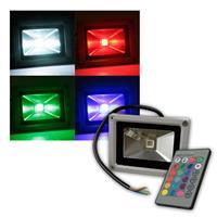 LED Flutlichtstrahler 10W 230V RGB-Fluter IP44