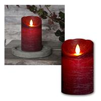 LED candle, black red, 13x8cm, timer function