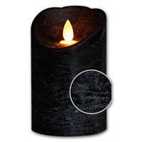 LED Dekokerze mit gebürsteter Struktur und Timer