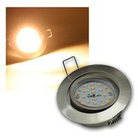 LED Einbaustrahler | Flat-32 | Edelstahl | warmweiß | 470lm