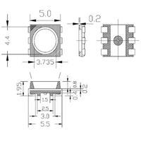 Abmessungen der RGB SMD LED 5050