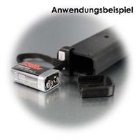 Betrieb über 1x 9V Block Batterie